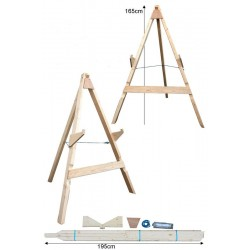 JVD Stand Ciblerie 3-Pieds Large