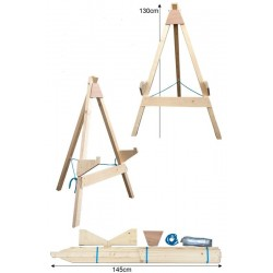 JVD Stand Ciblerie 3-Pieds Small